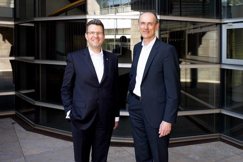 EAM Geschäftsführer Georg von Meibom und Thomas Weber