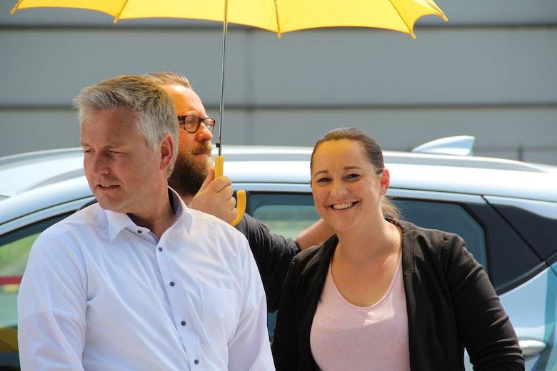EAM Jörg Hausknecht und Yvonne Slaby