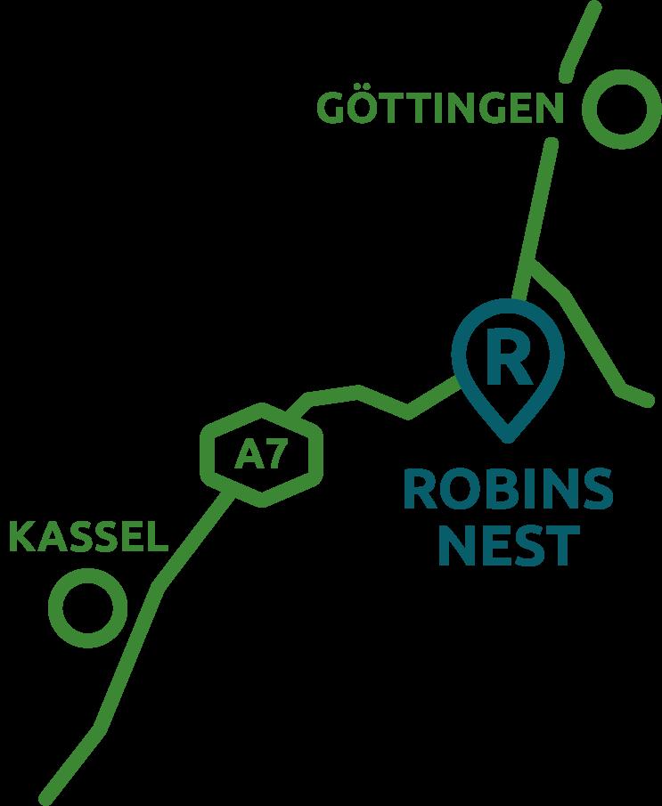 Anfahrt Baumhaushotel Robins Nest