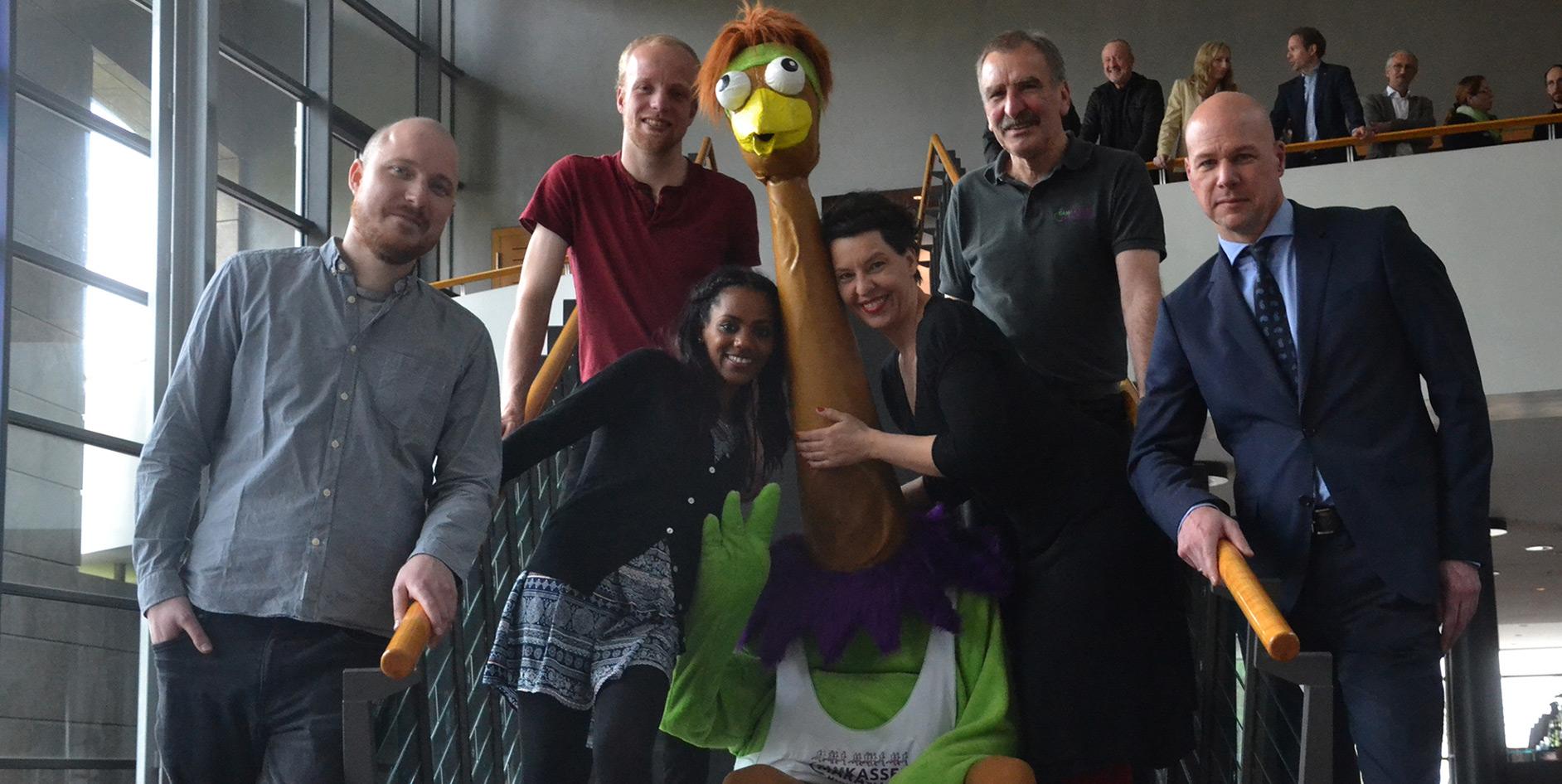 Das Maskottchen für den EAM Kassel Marathon erwacht zum Leben