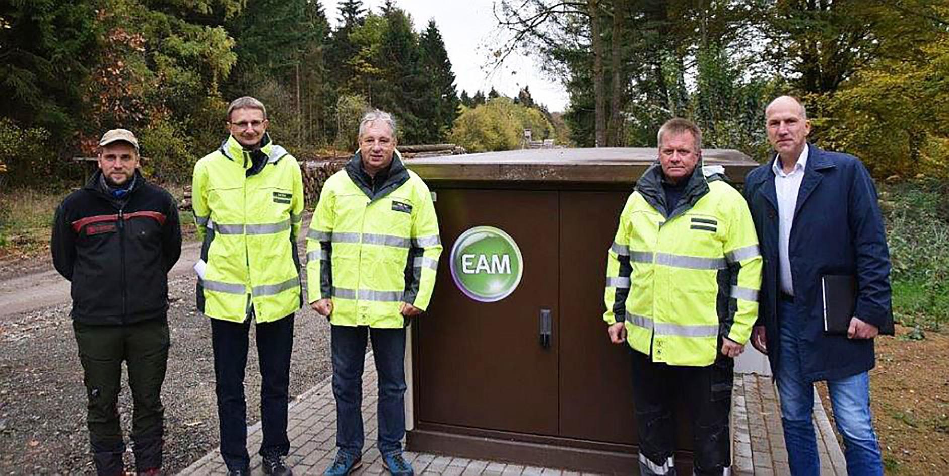 EAM macht Stromtrasse sturmfest