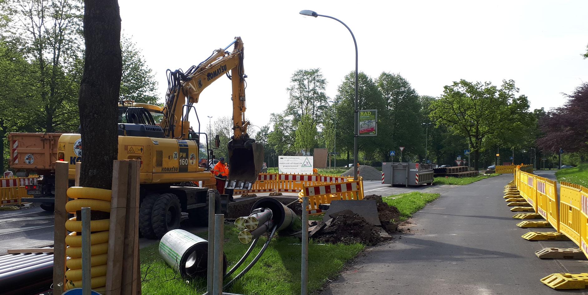 Das neue Kabel verbindet das Umspannwerk Grone mit dem Umspannwerk Leinestraße.