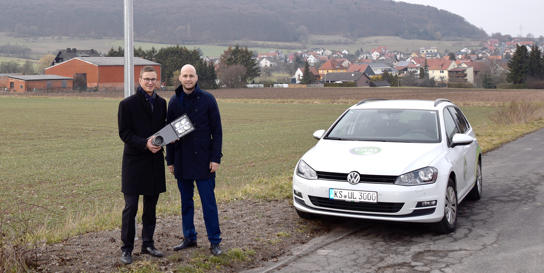 EAM modernisiert Straßenbeleuchtung in Hohenroda.