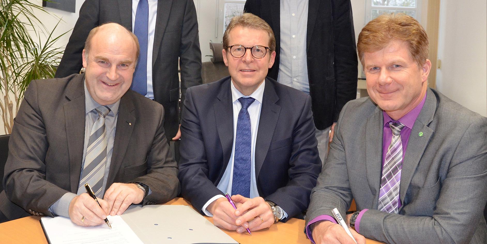 Unterzeichnung des Gaskonzessionsvertrags in Uslar am 6. Februar 2020.