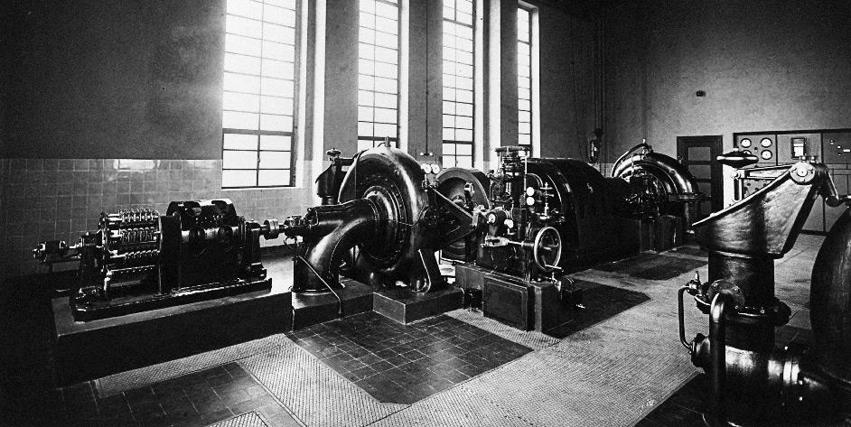 90 Jahre EAM eMag Kraftwerk in den 50ern