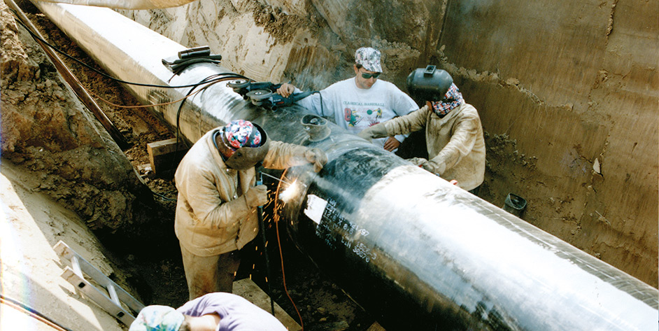90 Jahre EAM eMag Erdgasleitung