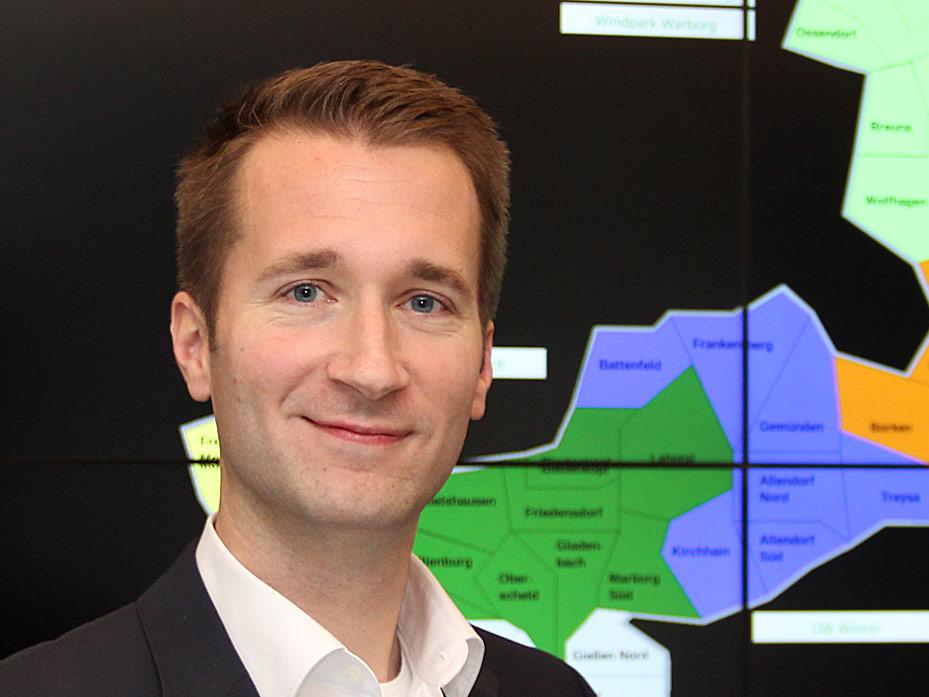 Timm Eberwein, Leiter EAM Netzleitstelle