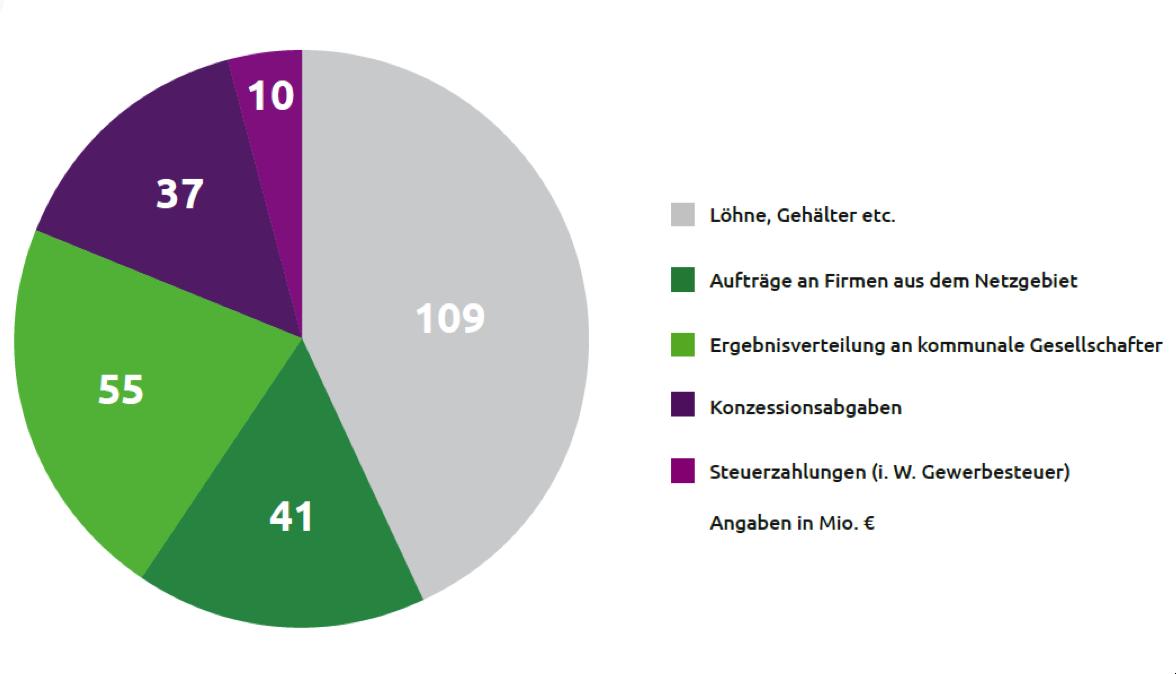 EAM Wertbeitrag für die Region rund 252 Mio. €